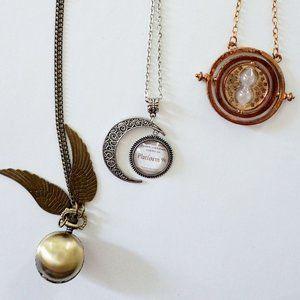 Harry Potter Necklaces (set of 3)